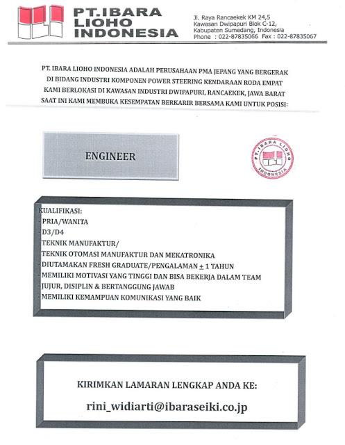 Loker PT. Ibara Lioho Indonesia
