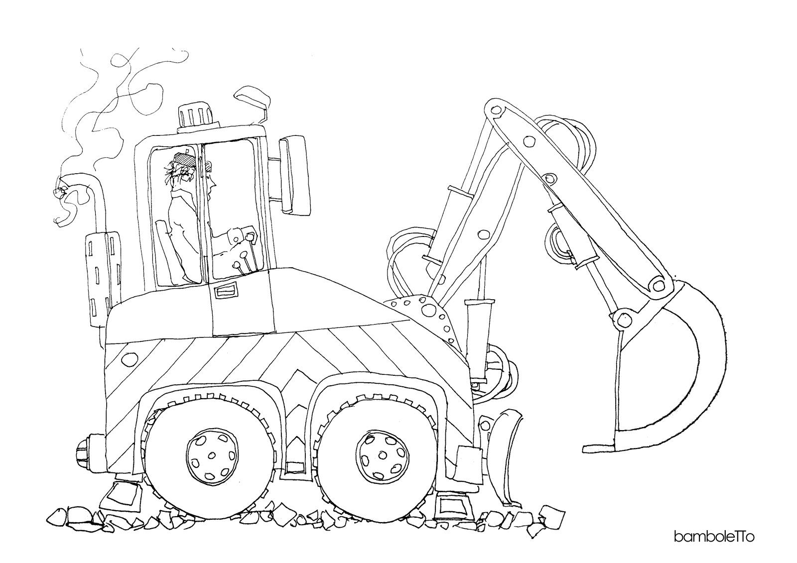 Bamboletto Ilustracje Karetka Koparka I Recenzja Puzzli