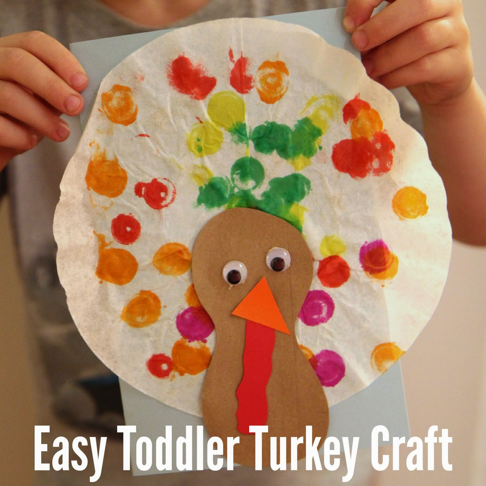 Preschool Turkey Craft Using Shapes
