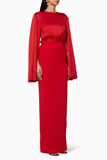 Dark-Red Nova Dress 1550 AED