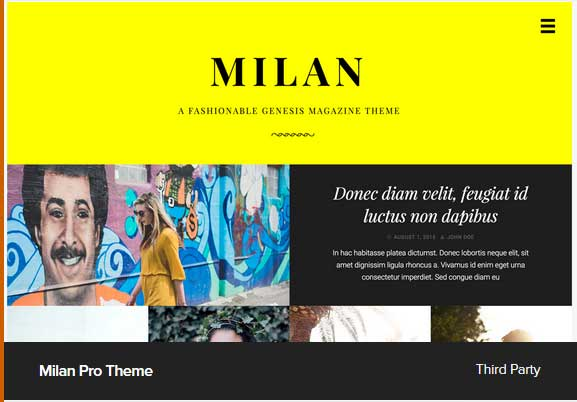 Milan Pro Theme Award Winning Pro Themes for Wordpress Blog : Award Winning Blog