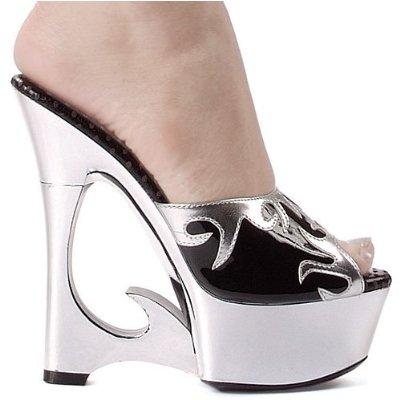 Women Silver Dress Shoes Fashion Style
