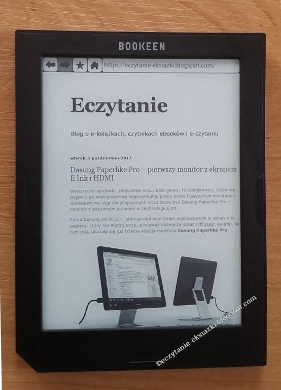 Blog Eczytanie w przeglądarce internetowej w czytniku Cybook Muse Light