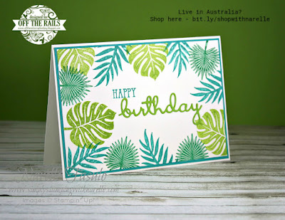 Take me to the tropics! You can easily with the Tropical Chic stamp set. See it here - http://bit.ly/TropicalChicStamp