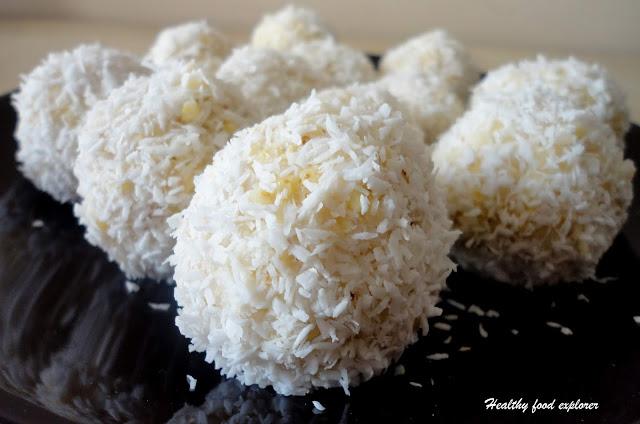 Kuleczki kokosowe z kaszy jaglanej
