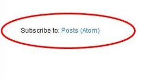 Cara Menghapus Subscribe to Atom di Blogger