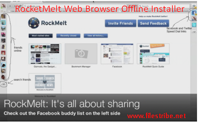 RocketMelt Web Browser offline Installer Free Download