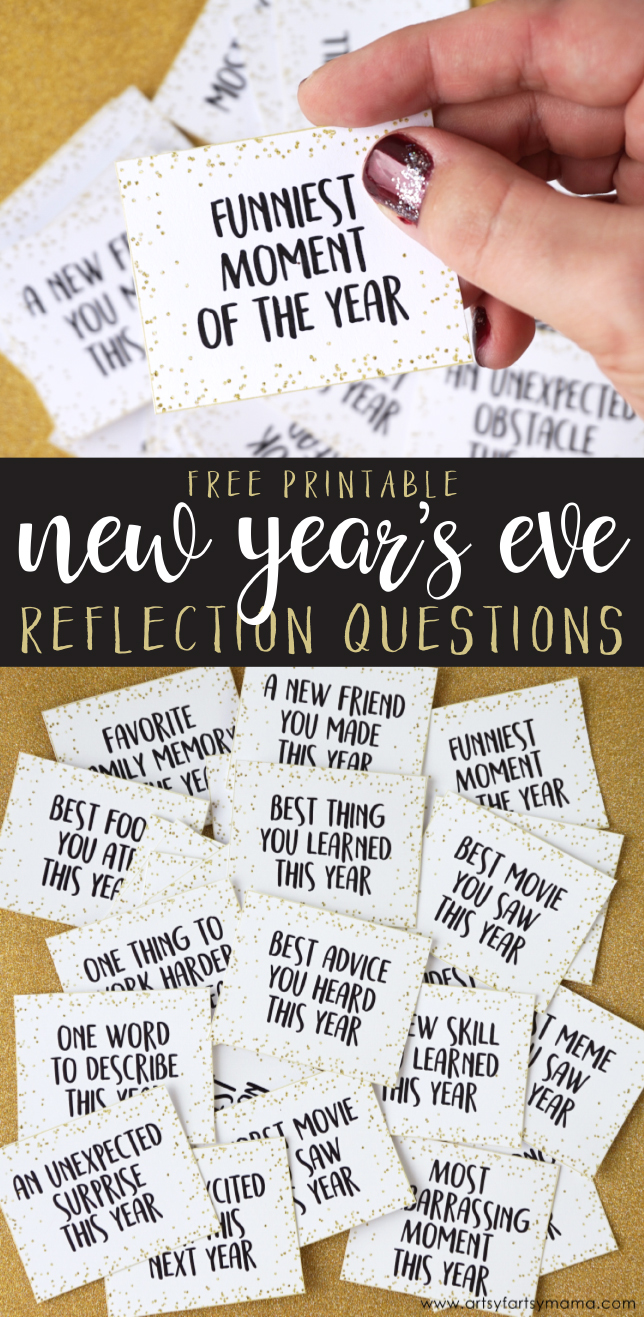 Free Printable New Year S Eve Reflection Questions Artsy Fartsy Mama