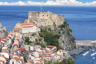 Castle of  Scilla on the rock in Calabria