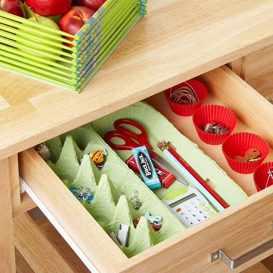 Egg crate for small craft or office supplies
