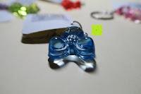 blau unten: German Trendseller® - 6 x Teddy - Schmuck Anhänger - NEU - ┃ Mitgebsel ┃ Kindergeburtstag ┃ Kristall Bärchen ┃ 6 Stück