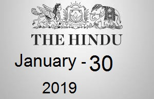 The Hindu Newspaper Today 30 January 2019 Download PDF | Yup