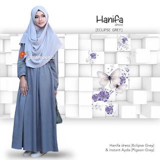 Gamis Yasmeera Hanifa Dress Eclipse Grey