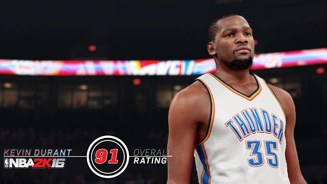 Kevin Durant's NBA 2K16 Rating