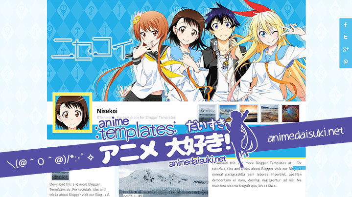 anime blogger template Nisekoi