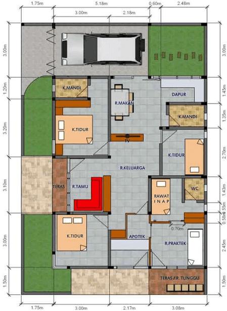 Desain Rumah Sederhana Dengan 3 Kamar