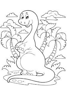 Cute Of Baby Dinosaur Coloring Book