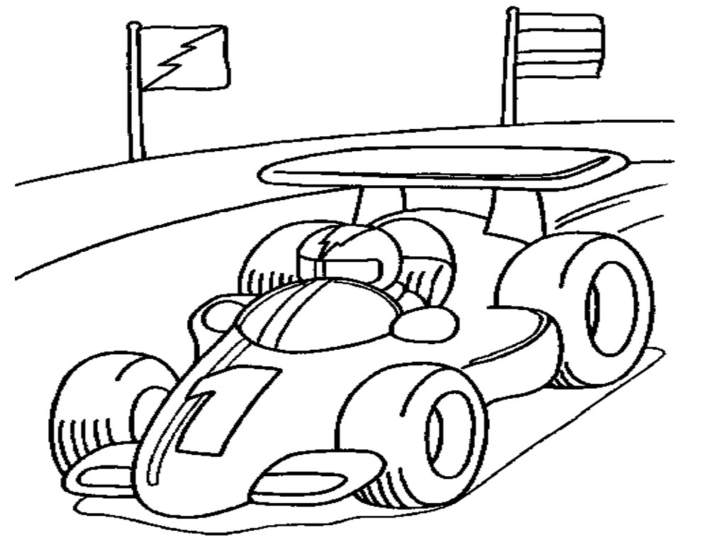 Race Car Coloring Pages Printable Free