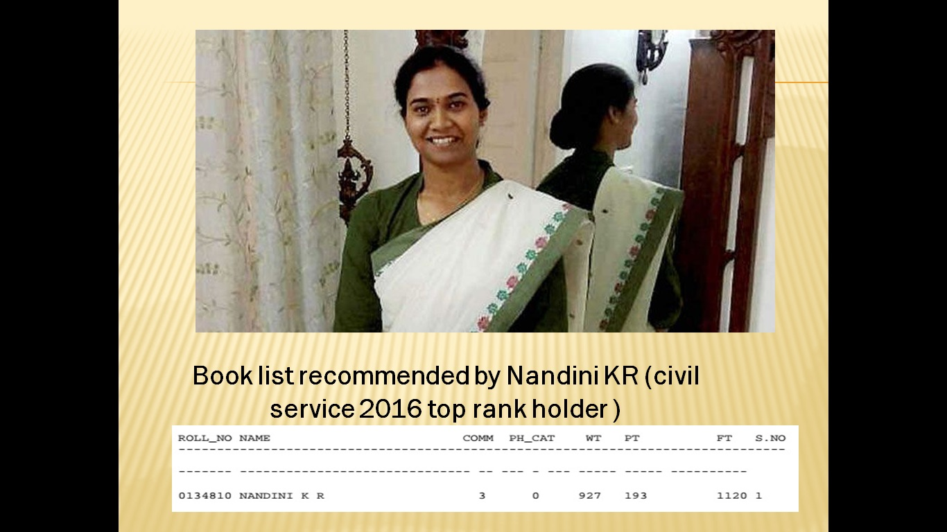 Essential Books Suggested by Nandini KR topper for UPSC