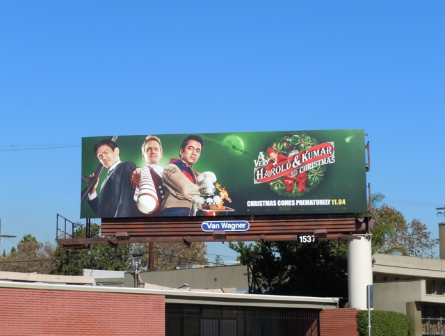 A Very Harold & Kumar Christmas 3D billboard