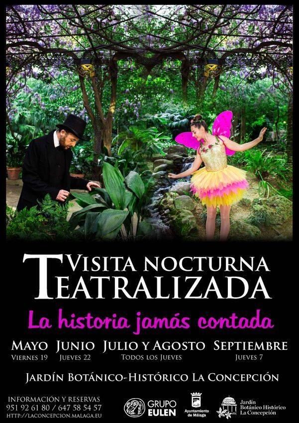 Visitas Nocturnas Teatralizadas En El Jardin Botanico Malaga 2017