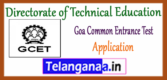 GCET Goa Common Entrance Test 2017 Application
