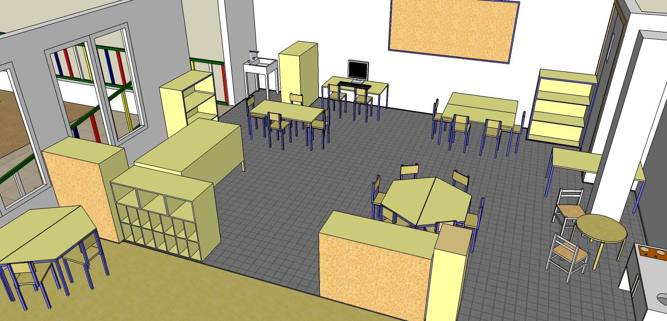 Jugando a ser ni s plano de mi clase en 3d rincones for Programa para hacer planos a escala