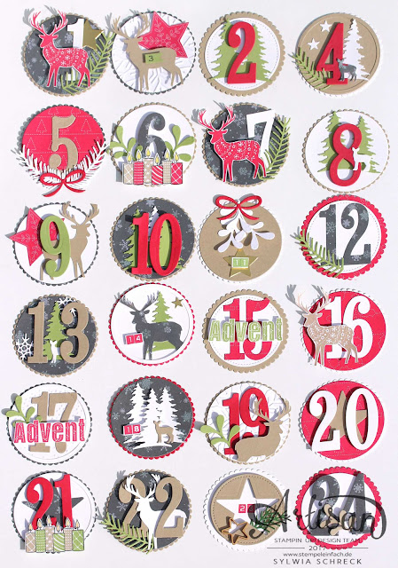 Adventskalender-Freude im Advent-Stampin up