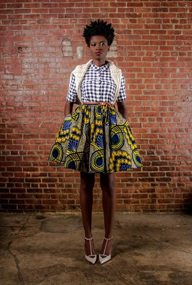 Demesticks  NY African print skirt ciaafrique ,african print dresses ,african fashion, african dress styles,kitenge designs , african styles, african style dresses , african style, african dresses