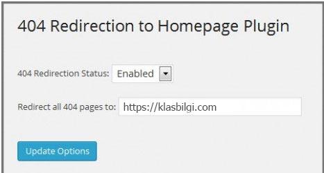 Wordpress 404 Hata Sayfalarını Ana Sayfaya Yönlendirme