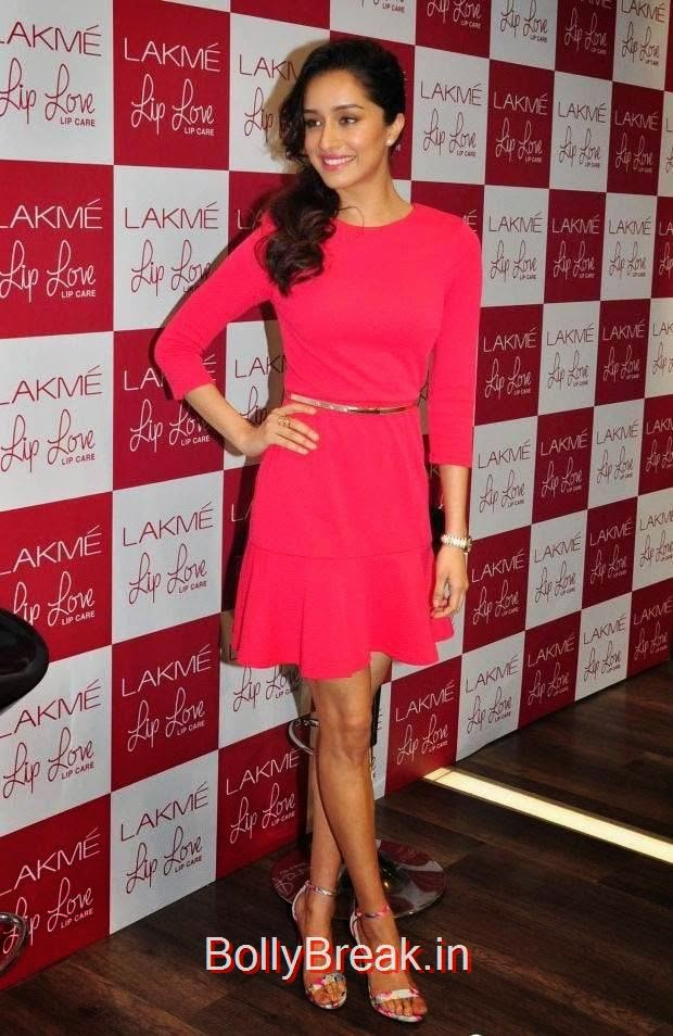 Shraddha Kapoor Photo Gallery, Hot Pics Of Shraddha Kapoor in red dress from LAKME Event