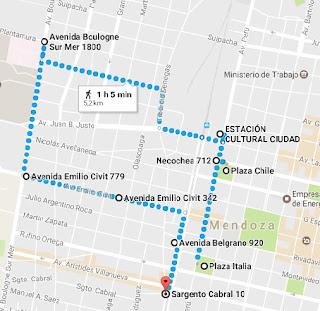 Oeste de Mendoza no Google Maps (com penitenciária)