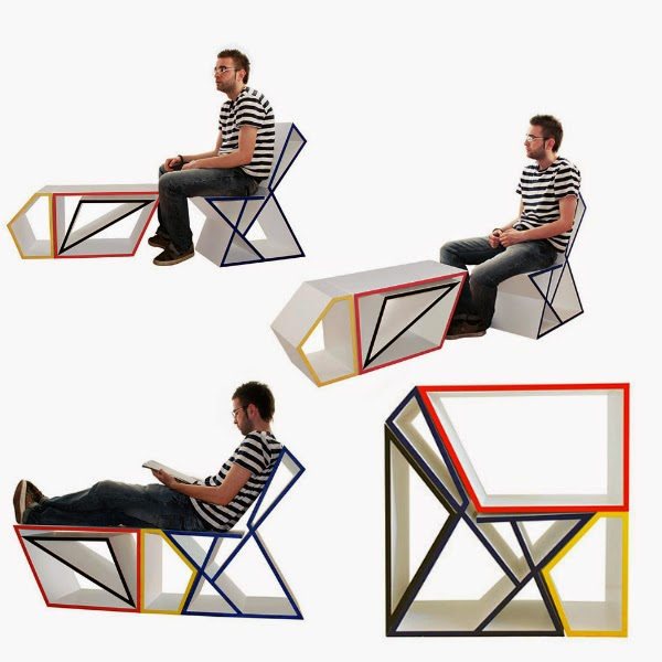 It Is, However, A Modular Furniture Collection That Become A Table, Chair,  Or Lounge When Broken Down From The Completed Arrangement.[Link]