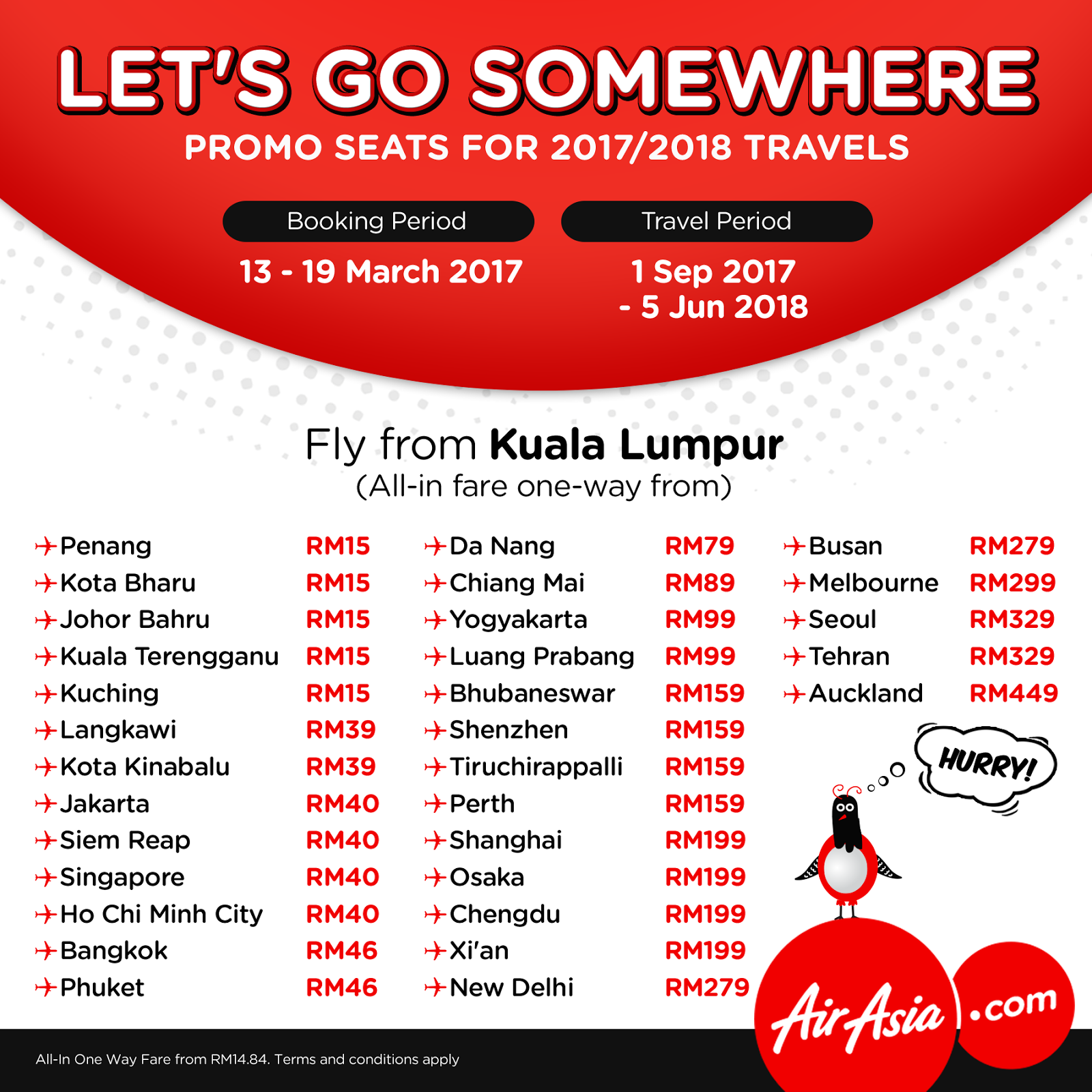 Airasia Promo Tickets In December Tiket2's unique Promo Flight Tracker detects the best promotional offers each month. Be sure to check out Air Asia's cheapest priced flights and the most affordable options available each month and snap up a great deal!