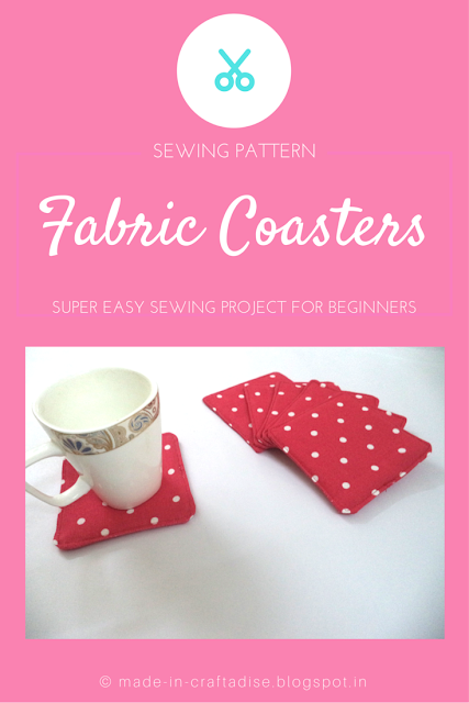 Free sewing pattern: Fabric Coasters