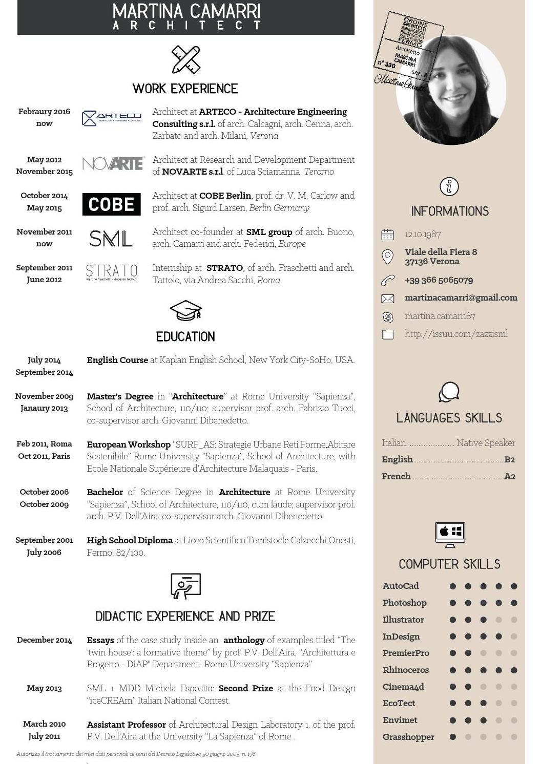 contoh cv  portofolio untuk arsitek junior dan desain