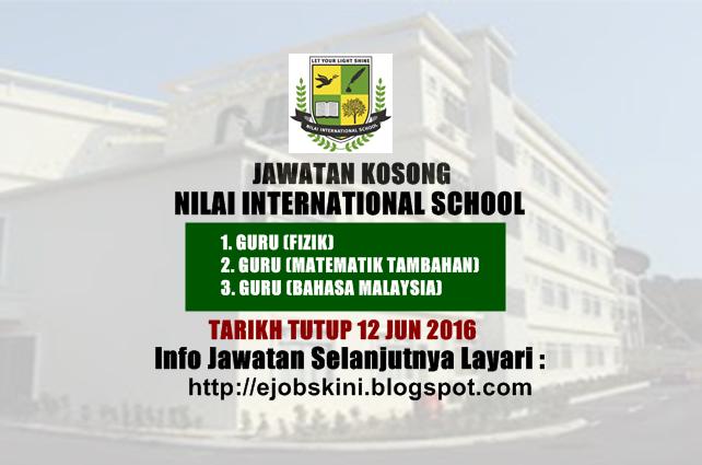 Jawatan Kosong Nilai International School