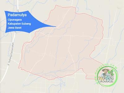 PETA :  Desa Padamulya, Kecamatan Cipunagara