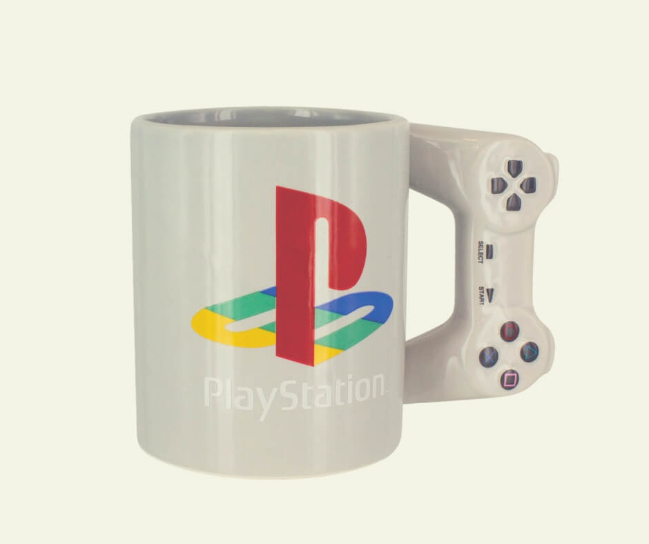 Christmas Gift Ideas For Your Mum and Dad | This Playstation mug is a great gift idea for your dad.