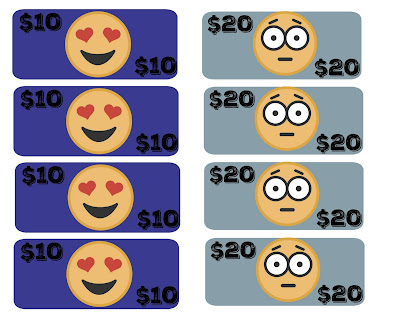 free printable emoji money