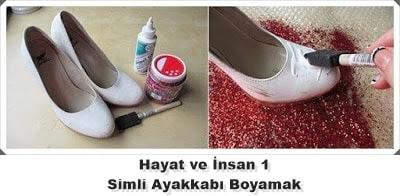 Simli Ayakkabı Boyama
