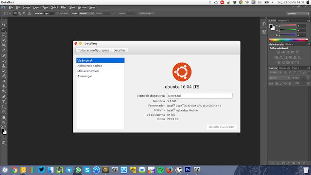 Ubuntu com tema Mac OS X
