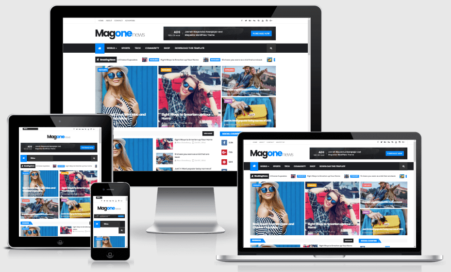 MagOne is a clean stylish magazine responsive Blogger Template that allows you to focus o Magone - Responsive Magazine Blogger Template