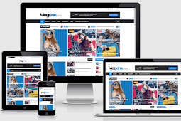 MagOne Responsive Magazine Blogger Template Free Download