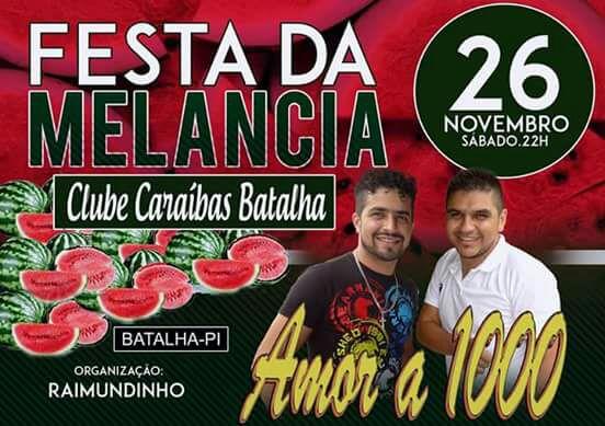 Vem ai mais uma tradicional festa da melancia no Clube Caraíbas