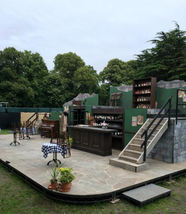 'Allo-'Allo-Cardiff-Open-Air-Theatre-Festival-Review-stage-set