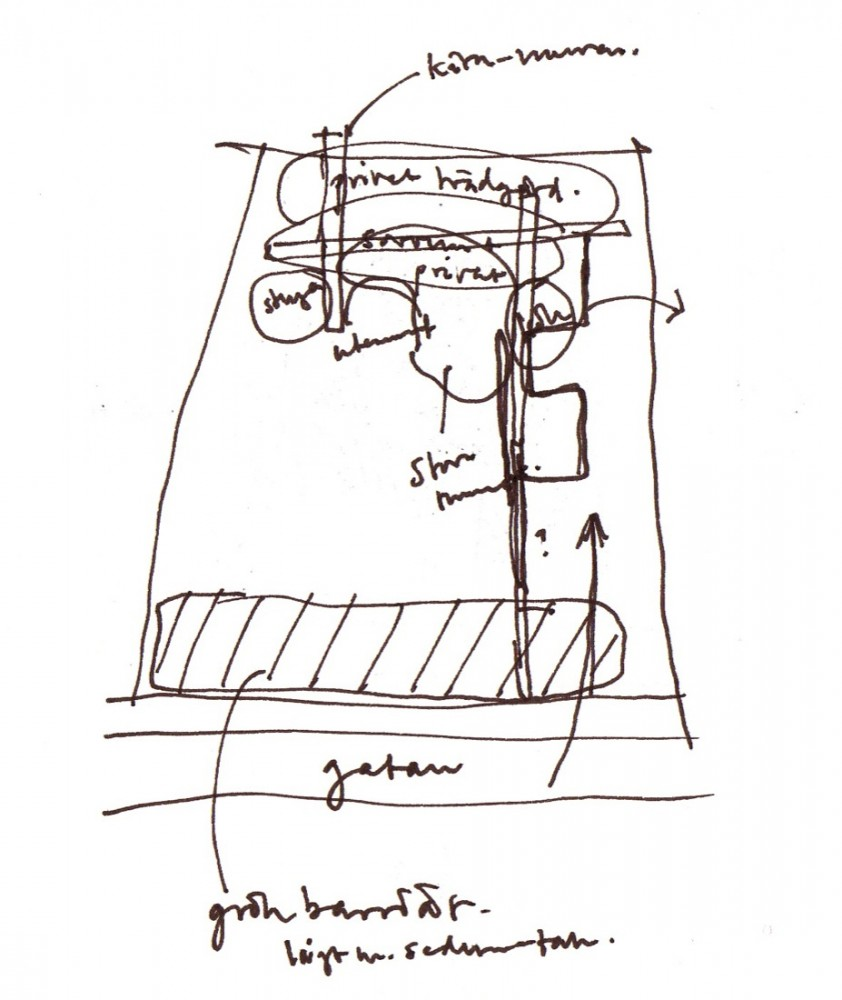 Sketch drawing © courtesy of johan sundberg arkitektur