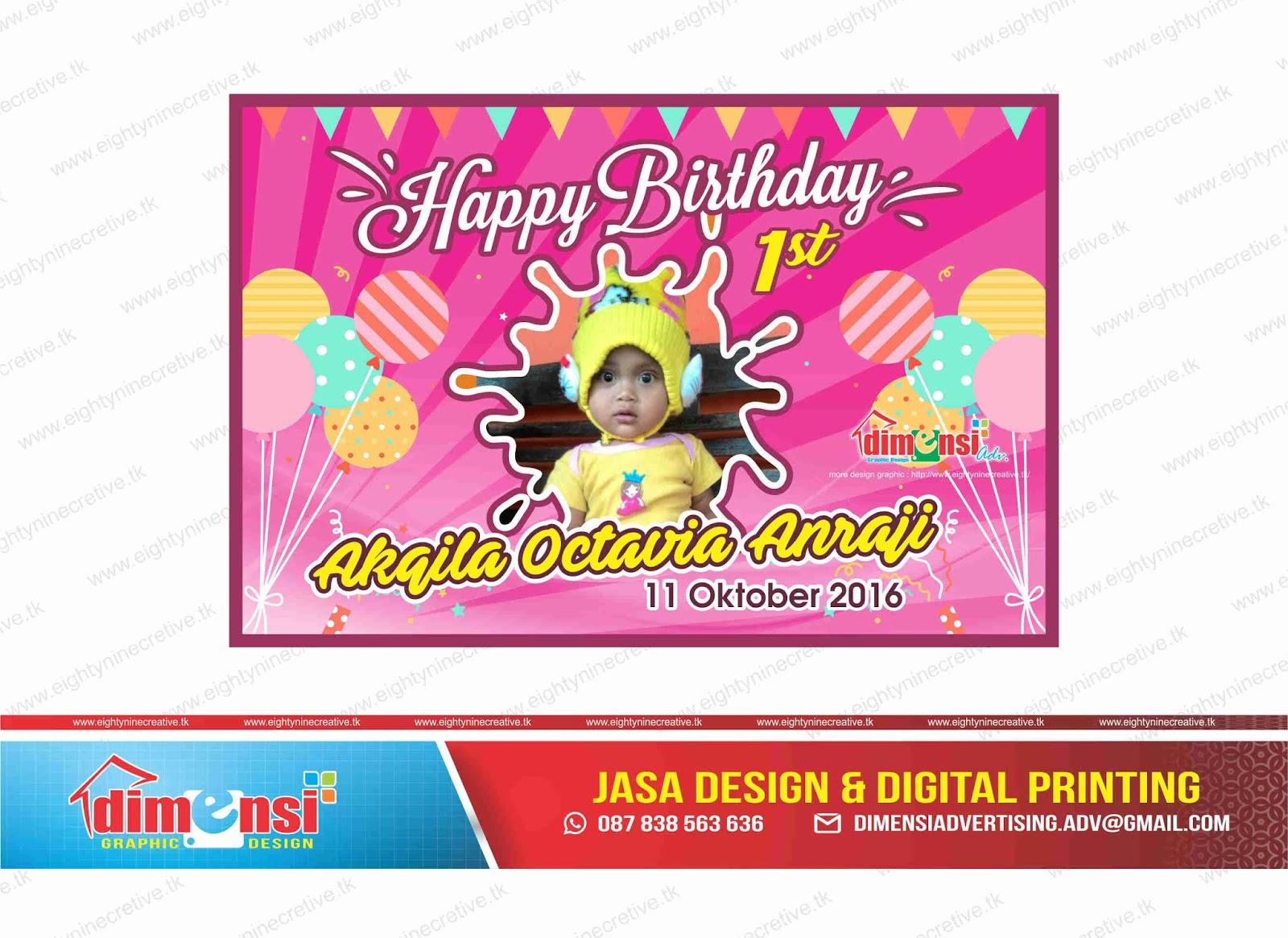 Download Contoh Spanduk Ulang Tahun Vector CDR - DIMENSI ...