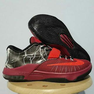 ike KD7 Thunder Red  Premium , nike basket replika , harga basket replika import nike,