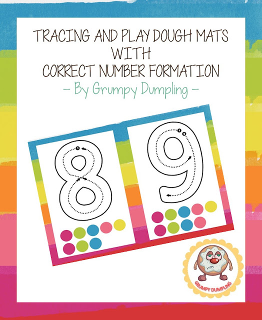 https://www.teacherspayteachers.com/Product/Tracing-and-Play-dough-Mats-with-Correct-Number-Formation-2066387